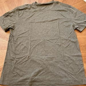 XL. Darker green tee shirt